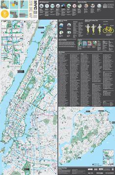 New York City bike map