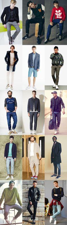 Men's Sneakers Outfit Inspiration Lookbook via fashionbeans.com