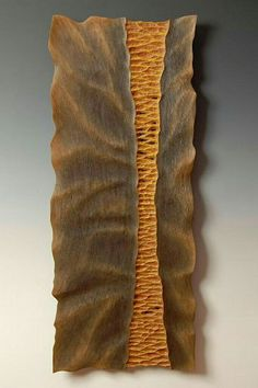 Wood sculpture with textures