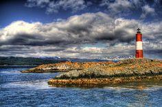 Lighthouse, fin del mundo en Tierra de Fuego. Ushuaia, Argentina.