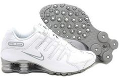 Wish | Women Nike Shox NZ SL Leather White/Silver Running Shoes 366571-111 Sizes 6 ~ 11