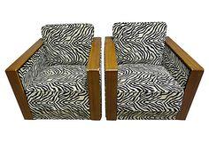 Swedish Art Deco Armchairs,   Pair on OneKingsLane.com