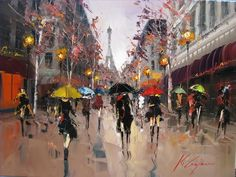 6-Kal-Gajoum-Romance-in-Paris-cityscapes.jpg (830×624)