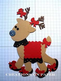 Reindeer Fashion Punch Art - bjl