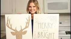 Amazing Christmas Canvas Art!!, via YouTube. Her tutorials are awesome!