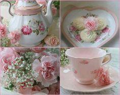 Welcome to my Pink Saturday . I know you thought I was done with the teapots but I had to save one of my favorites for Pink Saturday. My Cup Of Tea, Tea Service, Vintage Tea, Shabby Vintage, Vintage China, High Tea, Afternoon Tea, Retro, Pretty In Pink