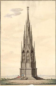 Denkmal auf dem Kreuzberg von Karl Friedrich Schinkel, 1826