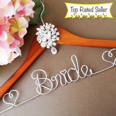 Personalized Diamond Embellished Bridal Hanger