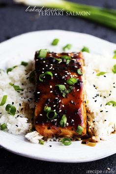 A five star salmon baked with the best homemade sesame teriyaki sauce.  This is easily one of the best things that you ...