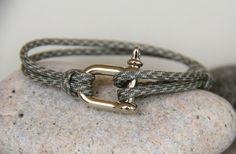 bracelet homme MANILLE cordon parachutiste ajustable : Bijoux pour hommes par made-with-love-in-aiacciu