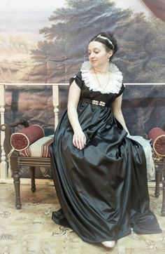 Looks like a portrait. Historical Costume, Historical Clothing, Historical Dress, Regency Dress, Regency Era, Jane Austen, Edwardian Costumes, Empire Style, Fashion History