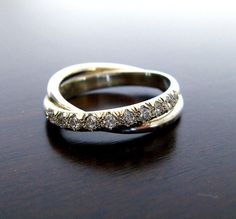 Infinity Handmade  Engagement   Ring  With Cubic Zirconia  //  Women's  Wedding ring // Fine Jewelry on Etsy, $190.00