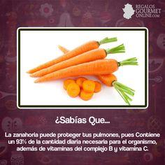 ¿#SabíasQue La zanahoria puede proteger tus pulmones?#Curiosidades#Gastronomía