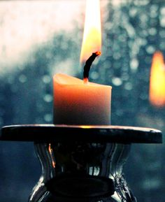 Candle and rain