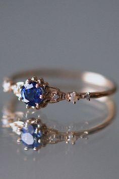 """Minimalist Engagement Rings That Scream """"I Do"""" #refinery29 http://www.refinery29.com/minimalist-engagement-rings#slide-7"""