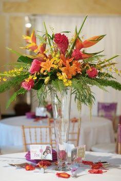 44 best tropical centerpieces images floral arrangements tropical rh pinterest com beach table centerpieces for weddings beach table centerpieces for weddings