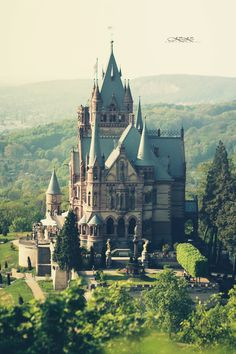 Explore a castle! 32 Amazing Castles from Around the World (pictured is the Schloss Drachenburg on Drachenfels hill in Königswinter, Germany) Places Around The World, Oh The Places You'll Go, Places To Travel, Around The Worlds, Travel Destinations, Beautiful Castles, Beautiful Buildings, Beautiful Places, Amazing Places