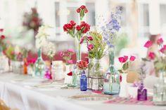 Colorful-Wildflower-Wedding-Reception-Centerpiece