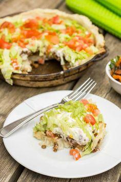Vegan Taco Pie. The crust is gluten-free.