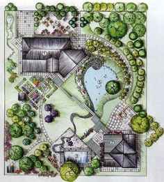 21 Ideas For Landscape Architecture Drawing Design Projects Landscape Model, Landscape Architecture Drawing, Landscape Sketch, Garden Architecture, Landscape Drawings, Lego Architecture, Garden Design Plans, Landscape Design Plans, Landscaping Design