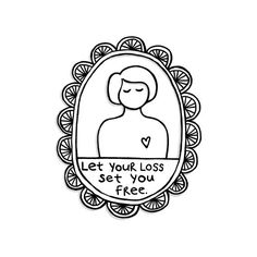 "Heartgirl art print ""Let your loss set you free"""