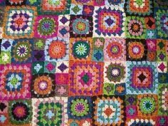Granny square blanquet