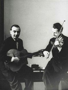 Hot Jazz de France, Django Reinhardt and Stephane Grapelli,1935  by Erwin Blumenfeld