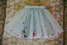 pom-pom tutu | Tibault and Toad Diy Tutu Skirt, Pom Pom Skirts, Begginer Sewing Projects, Tulle Poms, Toad, First Birthday Parties, Sewing Patterns, Tutu Ideas, Quilting