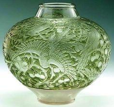 René Lalique - Glass Vase RENE' LALIQUE More Pins Like This At FOSTERGINGER @ Pinterest