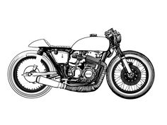 this is a simple drawing in Adobe Drawings app on iPad Pro. Motorcycle Icon, Motorcycle Posters, Motorcycle Design, Triumph Cafe Racer, Heartbreak Wallpaper, Ninja Bike, Bike Sketch, Bike Drawing, Cafe Racer Magazine