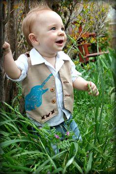 Boys Khaki vest. #Easter #Photography