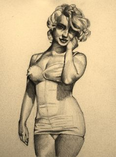Marilyn Monroe Study by ~sarah-ng on deviantART    This image first pinned to Marilyn Monroe Art board, here: http://pinterest.com/fairbanksgrafix/marilyn-monroe-art/    #Art #MarilynMonroe
