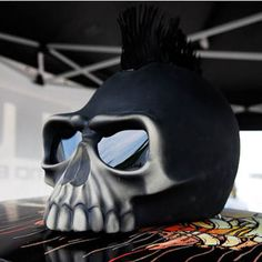 Ghost Rider inspired 3D Skull Helmets by Riders DNA - Bangkok