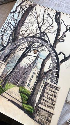 12 Best Northwestern University Watercolor Painting Print