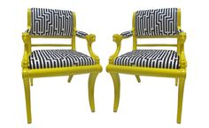 yellow chair painted - Google Search...like the contrast
