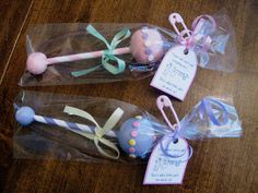 Baby-Rattle Cake Pops...cute baby shower favor