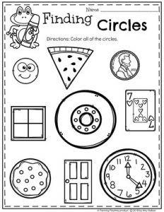 Circles Worksheet For Preschool Circle Crafts Preschool, Shape Worksheets For Preschool, Shapes Worksheets, Preschool Classroom, Preschool Learning, In Kindergarten, Preschool Activities, Preschool Shapes, Letter Worksheets
