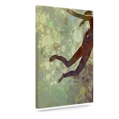 "AlyZen Moonshadow ""LIFT"" Green Brown Canvas Art"