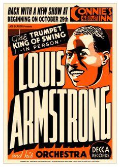 Louis Armstrong at Connie's Inn, New York City, 1935 Kunstdruk