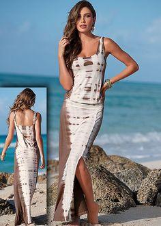Tie dye maxi dress in the VENUS Line of Dresses for Women