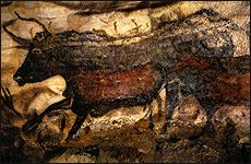 Great Hall of the Bulls. Lascaux, France. Paleolithic Europe. 15,000–13,000 B.C.E. Rock painting.