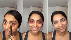 El truco para eliminar ojeras con labial rojo: http://birch.ly/1BPwbYw