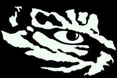 LSU Eye of The Tiger Vinyl Decal | eBay