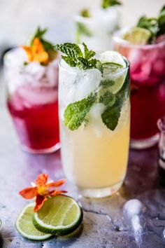 Kombucha Mojitos - a super healthy, delicious and fun way to kick off summer! From halfbakedharvest.com