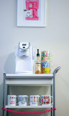 I have a kitchen cart just like this that we can potentially use!