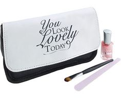 Original Gift Company Personalised Look Lovely Make-up Bag, Polyester Remind them every day of how beautiful they are with this flattering make-up bag. Just add their name to tell them how lovely they look every time they pick it up to put on their make-up.Finished in a http://www.MightGet.com/february-2017-2/original-gift-company-personalised-look-lovely-make-up-bag-polyester.asp