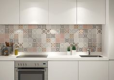 1000 ideas about credence cuisine on pinterest kitchens smart tiles and m - Carreaux ciment patchwork ...