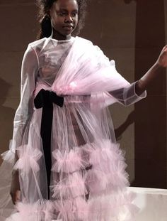 Pink Tulle Made A Feminine Statement At The Molly Dard Show For London Fashion Week