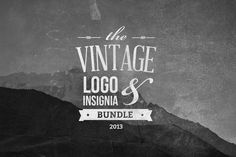 Vintage Logo & Insignia Bundle by tomanders_ on Creative Market