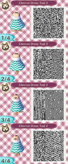 Cheveron Dress Teal2 QR Code by ChibiBeeBee on DeviantArt